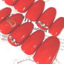 オンナっぽさは指先から。赤ネイルでレディ気分をあげて♡女子力高め人気デザイン